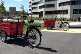 Shared cargo bikes in Jätkäsaari