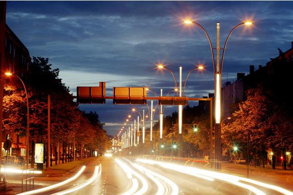 Lights from traffic in Helsinki