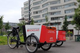 Colossus Finland's electric carbo bikes in Jätkäsaari
